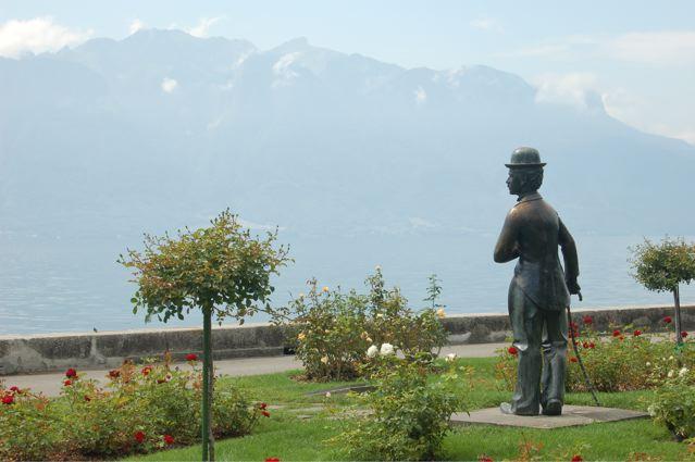 Charlie Chaplin Statue in Vevey, Switzerland