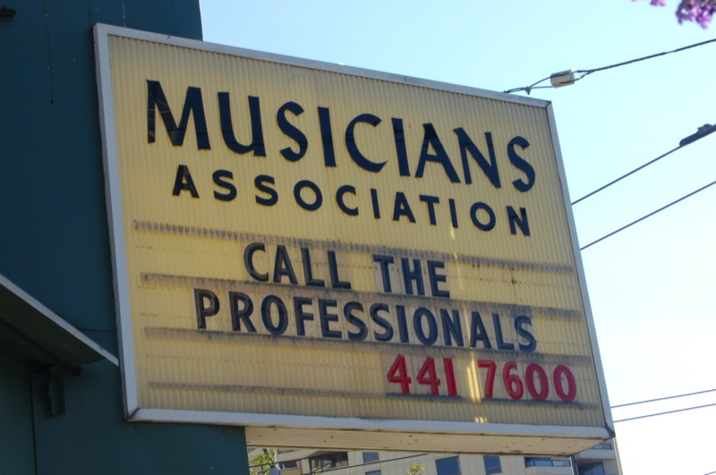 Musician's Association; Call the professionals - Seattle, USA, 2008
